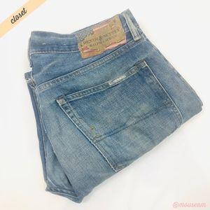 [RL Denim & Supply] Distressed Straight Jeans
